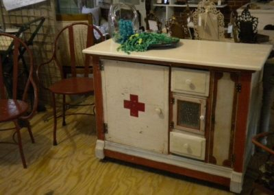 john warren designs red cross cabinet at sowa vintage market boston