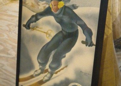 vintage ski poster at sowa vintage market boston