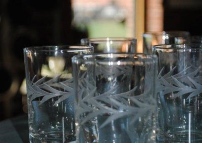 crystal barware at sowa vintage market boston
