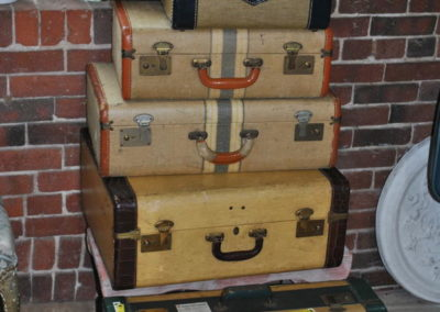 vintage suitcases stack at SoWa Vintage Market Boston